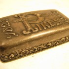 Pike Pewter Sharpening Stone Case 1903