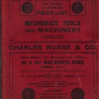 CHARLES NURSE & Co. 1925  MECHANICS TOOLS CATALOGUE