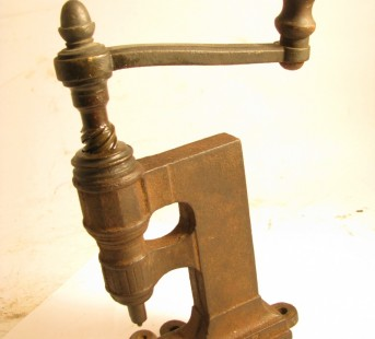 19TH CENTURY BENCH RIVETER IRON & BRASS